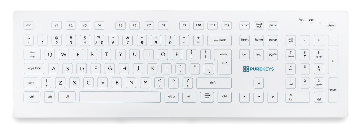 Purekeys Wireless Compact Keyboard