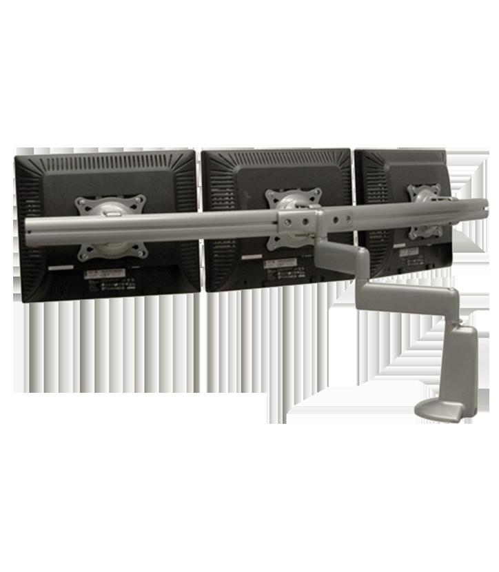 Triple Display Dual Swinging Arm Mount