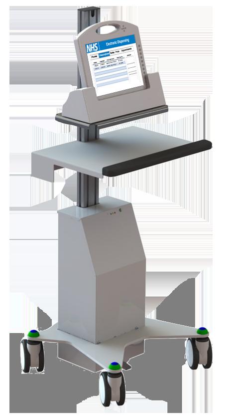 Mobile Tablet Workstation - Hygia VHA Tablet Cart