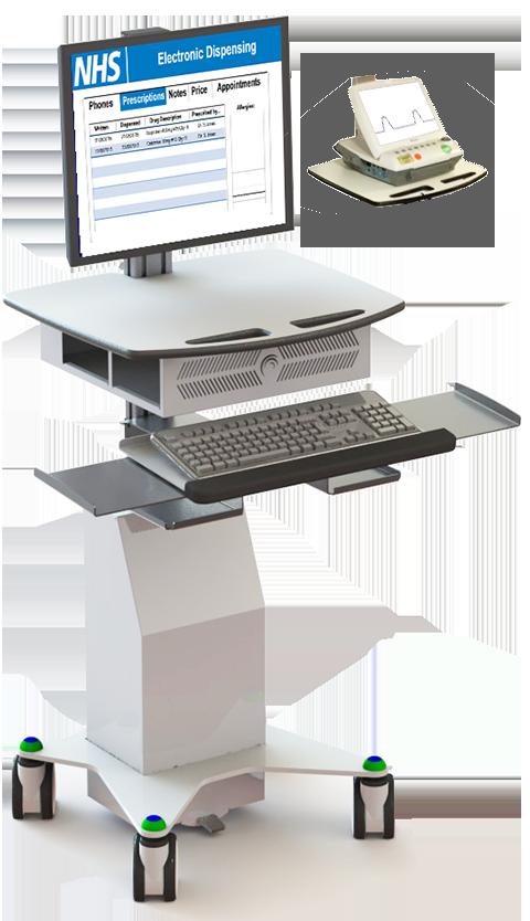 Foetal Monitoring Cart