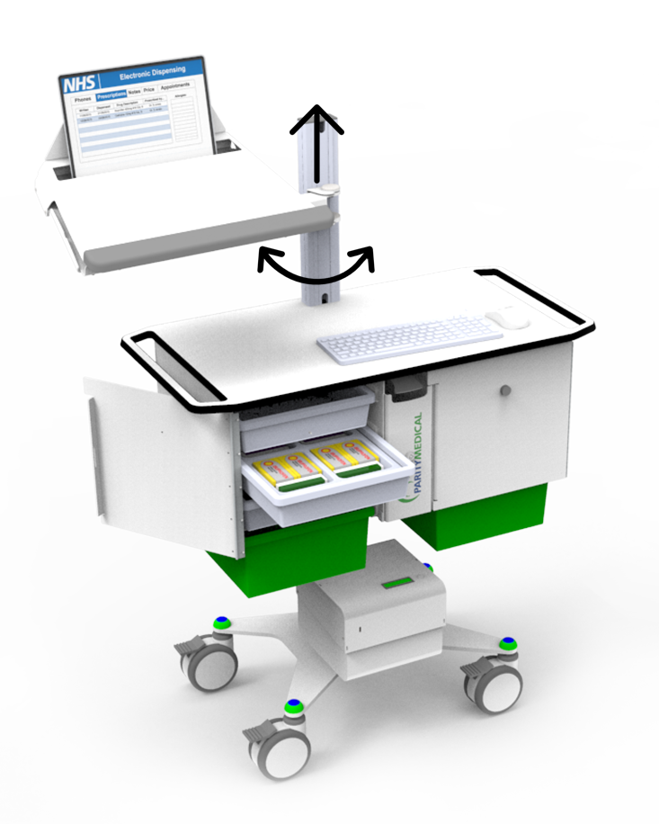 Mobile Computer Cart for Healthcare - EconoLite Infinity Cart
